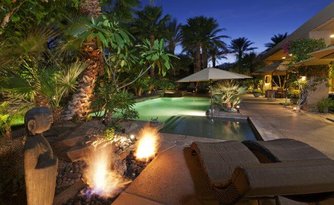Luxury pool in villa