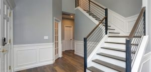 interior with white wainscoting