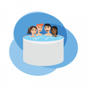 2 person hot tub image