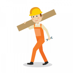 flooring worker carrying carpet