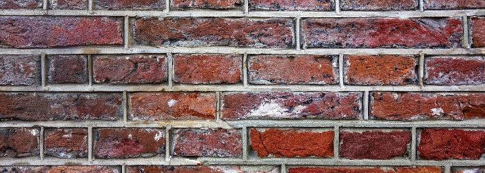 bricks built on house