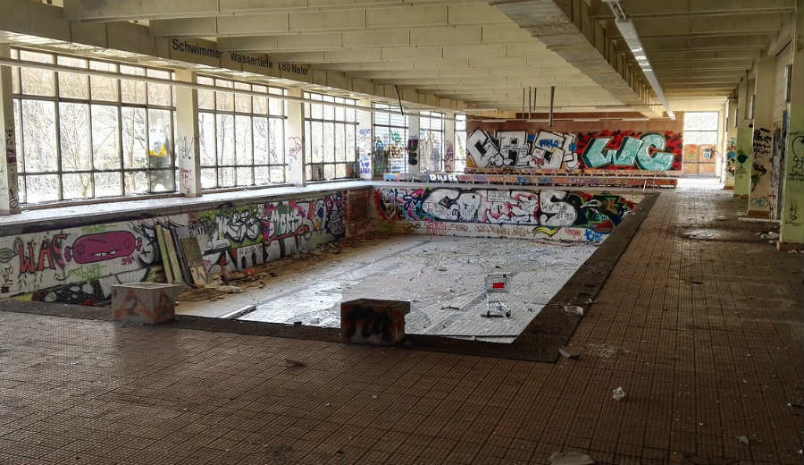 Demolished pool image
