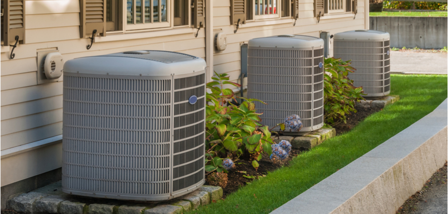heating and air conditioning inverters near a condo