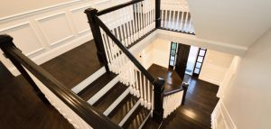interior dark hardwood floor staircase