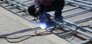 Welding work for structural steel building