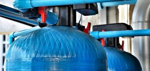 upper tank of water softner system